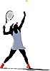 Tennis player | Stock Vector Graphics