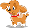 Vector clipart: cute fun puppy