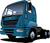 Векторный клипарт: синий грузовик