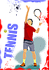 Vector clipart: Tennis player poster