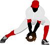 Vektor Cliparts: Baseball-Spieler