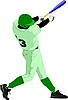 Vector clipart: Baseball player
