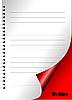 Векторный клипарт: Молочные страницу с завиток углу.