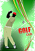 Vector clipart: Poster with Golf player
