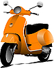 Vector clipart: city scooter