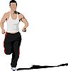 Vector clipart: running man