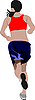 Vector clipart: running woman