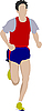 Vector clipart: running man.
