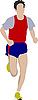 Running man. | Stock Vector Graphics