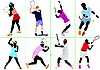 Vector clipart: Tennis players