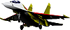 Vector clipart: combat aircraft