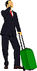 Vector clipart: Business man with suitcase