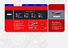 Векторный клипарт: Красный фон с самолета (страницы или сайта фоне)