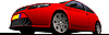 Vector clipart: red car-coupe