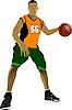 Vector clipart: Basketball players