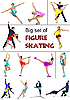 Vector clipart: figure skaters