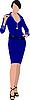 Vector clipart: Beautiful brunette in blue dress