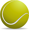 Vector clipart: Yellow-green tennis ball