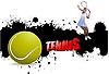 Векторный клипарт: теннисный гранж-постер