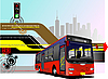 Vector clipart: red bus