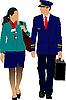 Pilot i stewardesa | Stock Vector Graphics