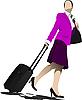 Векторный клипарт: Деловая женщина с чемоданом