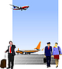 Vector clipart: in airport
