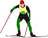 Векторный клипарт: Лыжник