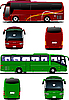 Vector clipart: Two buses