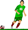 Soccer football player | Stock Vector Graphics