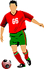 Vector clipart: Soccer football player