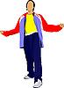 Векторный клипарт: Молодой человек в спортивном костюме