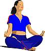 Векторный клипарт: Женщина делает упражнения йоги