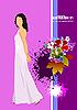 Vektor Cliparts: Hochzeits-Einladung
