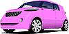 Vector clipart: Pink car sedan