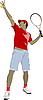 Vektor Cliparts: Tennis-Spieler