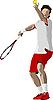 Vector clipart: Tennis player