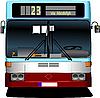 Vector clipart: Blue City bus