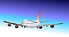 Vector clipart: Airplane in flight