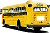 Векторный клипарт: Желтый школьный автобус.