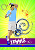 Photo 300 DPI: Tennis player poster