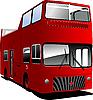 Векторный клипарт: Открытые возглавил тур Лондон автобус.