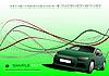 Vektor Cliparts: Grüne Komposition mit Auto