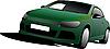 Vector clipart: Green car sedan