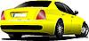 Vector clipart: Yellow car sedan