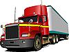 红色卡车。货车 | 向量插图