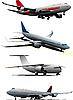 Векторный клипарт: Четыре самолета.