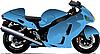 Векторный клипарт: Очерк современного мотоцикла.