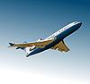Векторный клипарт: Самолет на аэродроме.
