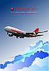 Vector clipart: Aircraft poster with passenger airplane